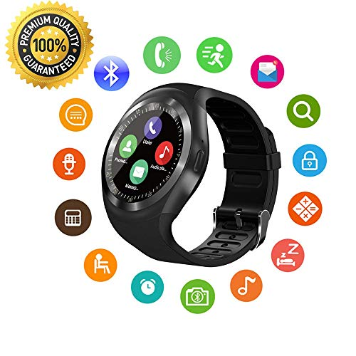 Kids Smart Watch Round Smartwatch with SIM Tions for iPhone iSOF Card...