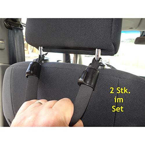 1a-becker Set 2X KFZ Einstiegshilfe Ausstiegshilfe Haltegriff für Senioren Griff Auto Kopfstütze