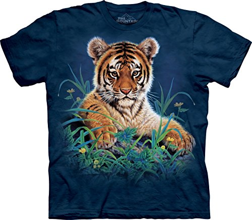 Cub Mountain T-shirt (The Mountain Unisex Kinder Gr. L Tiger Cub Grass Tigerbaby T Shirt)
