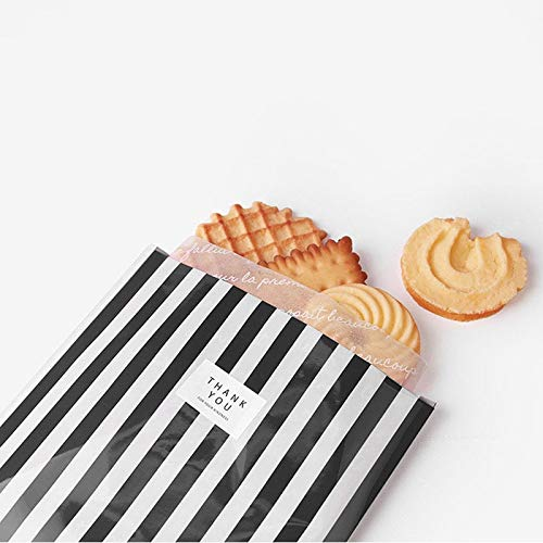 10Pcs / nette Streifen Candy Bag Kunststoff-Geschenk-Beutel für Kräcker Kekse Snack Backen Verpackung Beutel Festival-Ereignis-Party Supplies