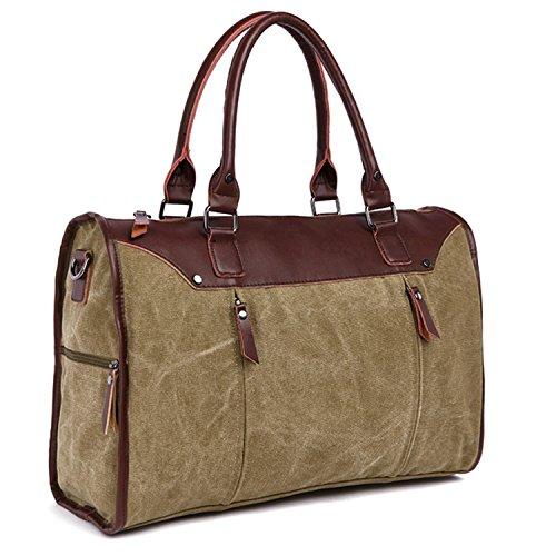Outreo Handtasche Kuriertasche Herren Aktentasche Herrentaschen Umhängetasche Freitag Vintage Schultertasche Retro Messenger Bag Laptop Taschen für Reisetasche Canvas Beige