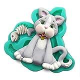Katze Party 3D Silikonform Fondant-Kuchen Topper