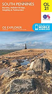 OS Explorer OL21 South Pennines (OS Explorer Map)