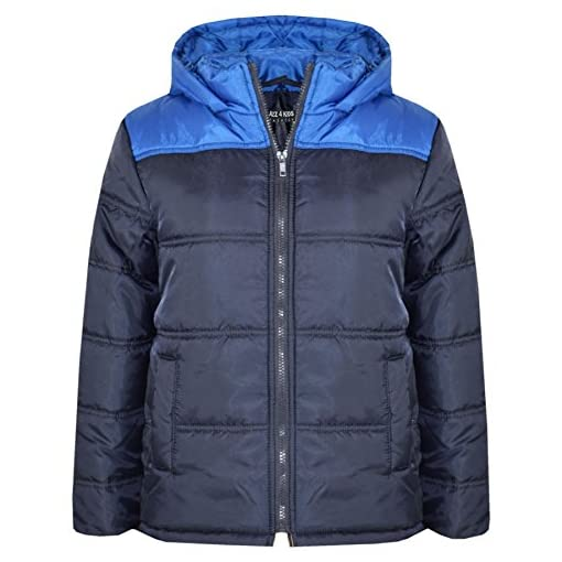 8bed4c451 A2Z 4 Kids® Boys Jacket Kids Designer s Foam Padded Hooded Puffa ...