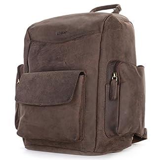 LEABAGS Greensboro mochila para cámara SLR / DSLR y accesorios de auténtico cuero búfalo en el estilo vintage