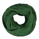 Butterme Moda Simple Cálido Invierno Cáñamo Flores Punto Snood Loop Bufanda Accesorio para Mujeres y Hombres(Verde)