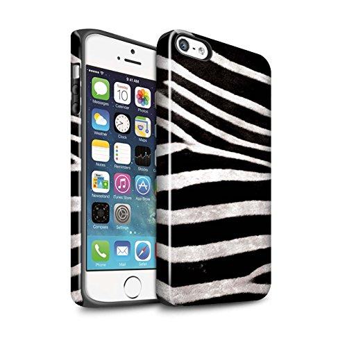 STUFF4 Glanz Harten Stoßfest Hülle / Case für Apple iPhone 8 / Gefieder Muster / Tierpelz Muster Kollektion Zebra