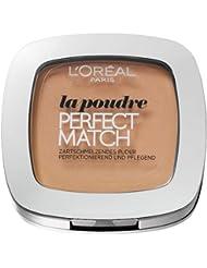 L'Oréal Paris Perfect Match Compact Puder, W3 Golden Beige / Make-Up Puder mit individueller Deckkraft und LSF, für jeden Hauttyp / 1 x 9 ml