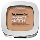 L'Oréal Paris Perfect Match Compact Puder, W3 Golden Beige/Make-Up Puder mit individueller Deckkraft und LSF, für jeden Hauttyp/1 x 9 ml