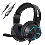 Nubwo Gaming Headset PS4, N11 Xbox one Stereo Wired PC Gaming Headphone mit Rauschunterdr�ckungsmikrofon, Over-Ear Kopfh�rer mit Mute Kontrol f�r PC, MAC, Playstation 4, Xbox 1 Game- Blue Bild