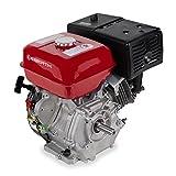 EBERTH 13 PS 9,56 kW Benzinmotor (25 mm Wellendurchmesser, Ölmangelsicherung, 1 Zylinder, 4-Takt, luftgekühlt, Seilzugstart)