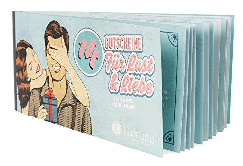 Deluxe Gutscheinheft 14 Gutscheine für Lust & Liebe, erotische Geschenkidee für Paare, Verwöhngutscheine für Ihn