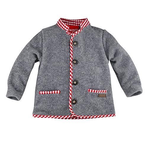 BONDI Fleecejacke ´Gipfelheld´, Grey-Melange 74 Tracht Baby Jungs Artikel-Nr.91213