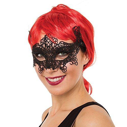 Bristol Novelty EM109Schleife Katze Maske aus Spitzenstoff, Damen, Mehrfarbig, One Size
