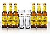 Die große König Ludwig Weissbier Vielfalt mit 6x0,33 L Bierflasche Weissbier und 2 Stück Gläser 0,33l