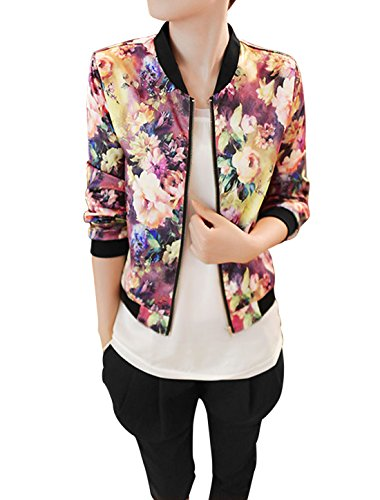 Allegra-K-Women-Long-Sleeve-Stand-Collar-Zip-Up-Floral-Bomber-Jacket