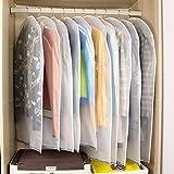 10st. Kleidersäcke Kleiderhülle transparent 120/100 cm lang Staub Schutz für...