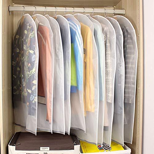 10st. Kleidersäcke Kleiderhülle transparent 120/100 cm lang Staub Schutz für Mantel Anzug Daunenjacke Rock Abendkleid Aufbewahrung Sack mit Reißverschluss, wasserdicht, dick, Ordnungssystem im Schrank -