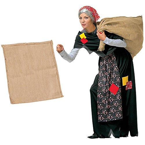 Costume da BEFANA per adulti vestito COMPLETO Epifania + SACCO Befana (COSTUME + SACCO)
