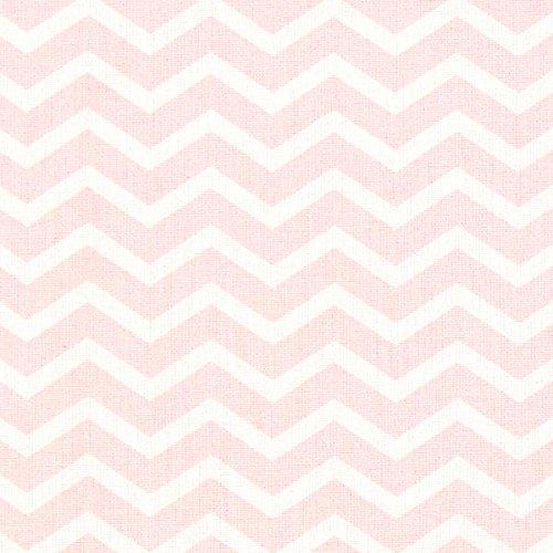 Zick-zack-nähen (Fabulous Fabrics Cretonne Zick Zack Tezy 2 - rosa - Meterware ab 0,5m - Oeko-Tex Standard 100 Produktklasse I - zum Nähen von Baby Deko und Kinder)
