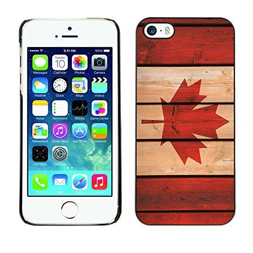 Graphic4You Vintage Uralt Flagge Von Kanada Kanadier Design Harte Hülle Case Tasche Schutzhülle für Apple iPhone 5 und 5S Design #1