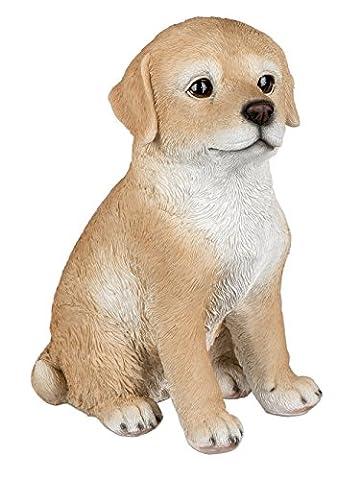 Golden Retriever Hund Welpe Deko Garten Tier Figur Skulptur Statue