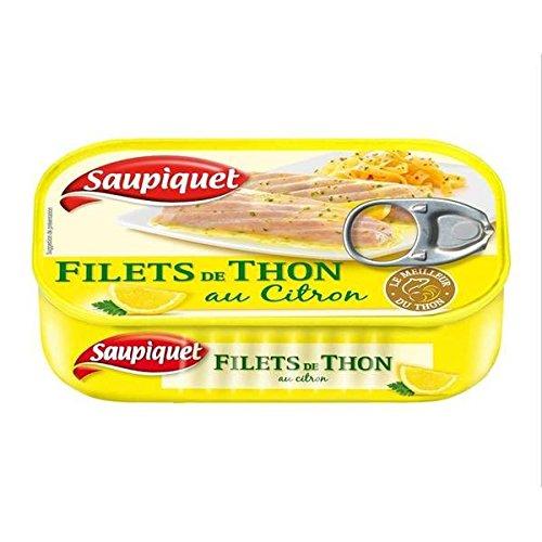 Saupiquet filets thon citron 1/6 115g - ( Prix Unitaire ) - Envoi Rapide Et Soignée