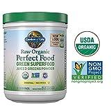 La comida es perfecta, RAW Organic Green Super comida, 8.5 oz (240 g) - Jardín de la Vida