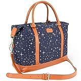 Women Travel Weekender Bag,AIZBO High Fashion Print Star Duffel Bag Overnight/Weekend Bags Carry-on