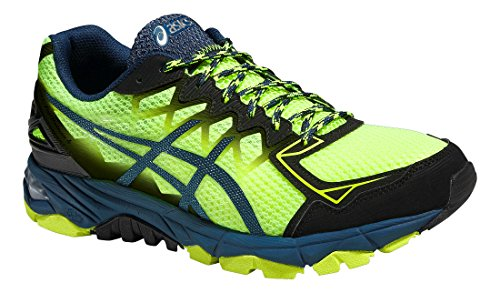 Asics Gel-fujitrabuco 4, Chaussures de Trail Homme flash yellow/black/mediterranean