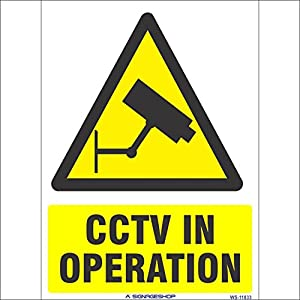 SignageShop WS-11833 CCTV in Operation Sign