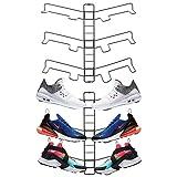 mDesign 2er-Set Schuhablage - verstellbares Wand Schuhregal für drei Paar Sneaker, Sportschuhe etc. - platzsparende Alternative zum Schuhschrank - grau