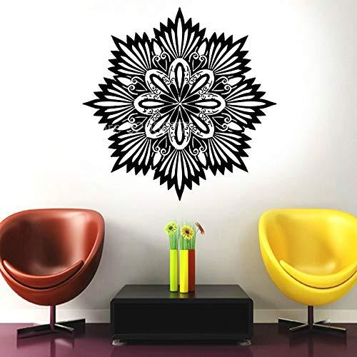 Moderne Mode Clan Eigenschaften Yoga Mandala Artist Residence Dekorative Vinyl Flugzeug Wandaufkleber Wohnzimmer Abnehmbare Wandbild A20 42x42 CM
