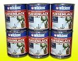 6 DOSEN FLIESENLACK WEISS GLÄNZEND 6x750ml Fliesenfarbe Fliesen Lack Farbe