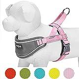 Blueberry Pet 76-98cm Brust 3M Multifunktions Reflektorstreifen Verstellbares Neopren Gepolstertes Hundegeschirr in Pink