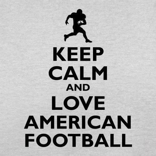 Keep Calm and Love American Football - Herren T-Shirt - 13 Farben Hellgrau