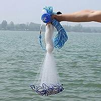 Alftek Cast Net Mesh 4ft-12ft Saltwater Clear Bait Cast Fishing Net Fush Capture