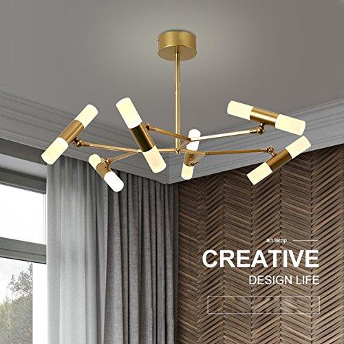 GRFH Moderne Kreative Wohnzimmer Pendelleuchte/Schlafzimmer Kronleuchter/Restaurant Golden Acryl 12 Kopf Verstellbare Winkel Deckenleuchten/Italienischen Designer Echte Kronleuchter