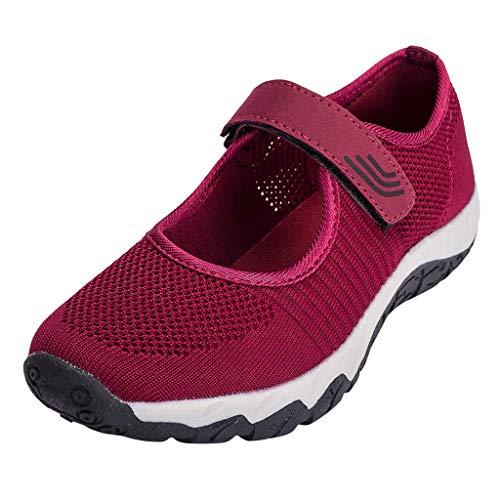 Moonuy Populaire Femmes Confortable Respirant Marche Baskets Antidérapant Fond Doux Chaussures Décontractées Simple Pure Randonnée Chaussures De Sport