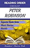Reading order checklist: Peter Robinson - Series read order: Inspector Banks Series, Inspector Banks Short Stories, Short Stories (English Edition)