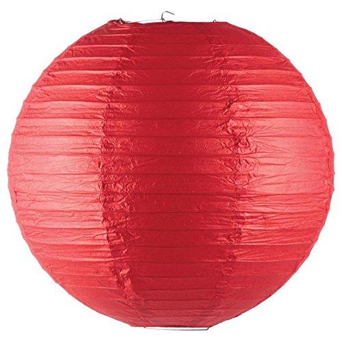 Paris Prix - Lanterne Boule en Papier 45cm Rouge