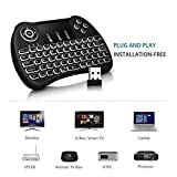 #6: Cable World Mini Wireless Keyboard with Touchpad/Backlit Light & Wireless Mouse Combo for Android/iOS Devices (Black)