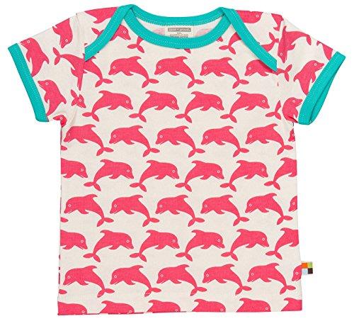 loud + proud Baby-Mädchen, Druck T-Shirts, Rosa (Coral) Co, 68 (62/68) -