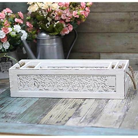 New day-Rural tecnologia arredamento vecchio scatola di immagazzinaggio decorazione della casa giardino di casa , white , l - New Pearl Ceramica