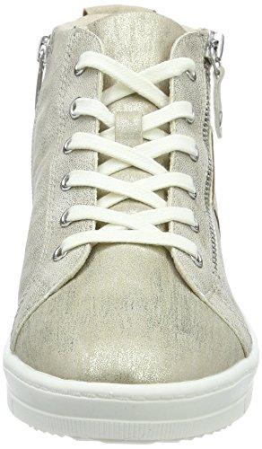 Tamaris 25203, Sneaker a Collo Alto Donna Beige (Ivory Comb)
