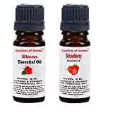 Gardens of Aroma - Hibiscus 10ml Essential Oils. Strawberry Essential Oil 10ml, Luxurious and Premium, High Quality, and Undiluted, Organic and Therapeutic Grade - Exceptional Choice for Aromatherapy, Massage and Aroma Diffusers - Suitable for All Skin Types - Use for Hair Care and Skin Care.