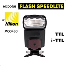 Mcoplus® MCO430N i-TTL universal Speedlite Flash (GN42) con pantalla LCD para Nikon D5200 D5300 D7100 D3200 D3300 D3100 D600 D700 D750 D800 D90 D80 D300s