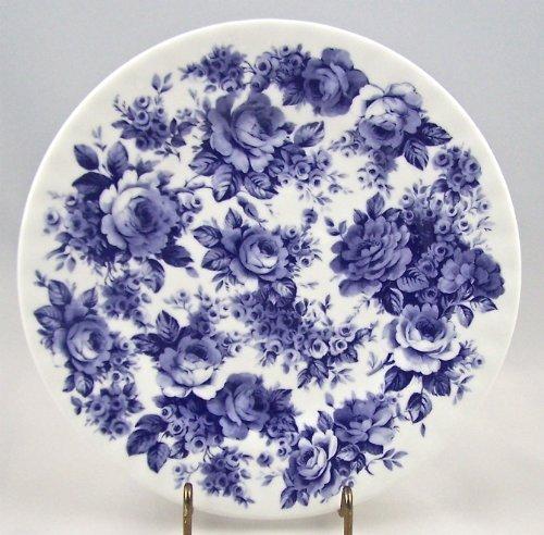 Fine English Bone China Salad Plate - Blue Rose English