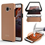 Galaxy J5 (2015) Étui, Urcover Full Body Dual Samsung Galaxy J5 (2015) Coque 360 Degrés Layer TPU + PC Placage [Nouvelle Version] Housse Antichoc Rose Dorée Case