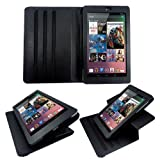 Google Nexus 7 Tablet Case Cover Leather Case Multifunctional with Dual-View Built-in Multi-Angle Stand - Black